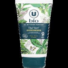 Gel nettoyant purifiant au thé vert U BIO, tube de 150ml