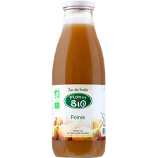 Jus de poires bio PLANET BIO, bocal de 75cl
