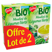 Liebig Soupe Mouliné De Légumes Verts Bio Liebig, 2x1l