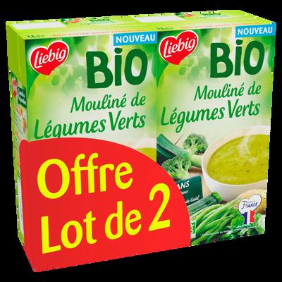 Soupe mouliné de légumes verts bio LIEBIG, 2x1l