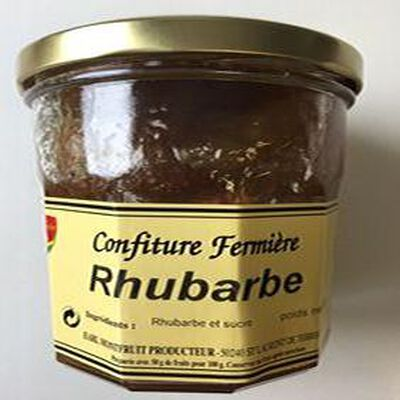 CONFITURE FERMIERE RHUBARBE 360GR