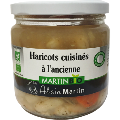 Haricots bio cuisinés à l'ancienne MARTIN BIO, 380g