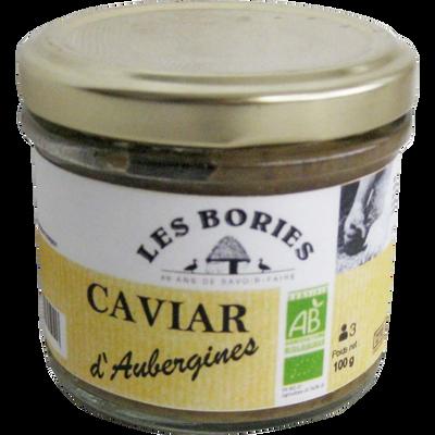 Caviar d'aubergines BIO LES BORIES, 100g