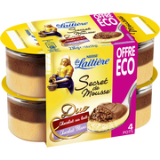 Nestlé Secret De Mousse Duo Chocolat Au Lait Et Chocolat Blanc La Laitiere, 4x59g