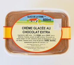 Crème glacée Chocolat, GLACE DE LA FERME, bac 500ml