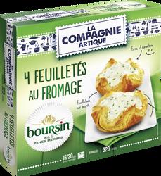Feuilletés au fromage Boursin ail et fines herbes LA COMPAGNIE ARTIQUE, x4