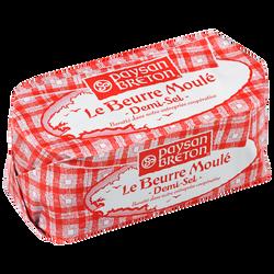 Beurre moulé demi-sel PAYSAN BRETON, 80% de MG, 500g