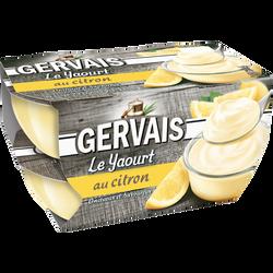 Yaourt sucré au citron GERVAIS, 4x115g