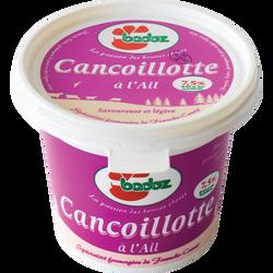 Cancoillotte à l'ail classique 7,5%MG BADOZ, pot de 250g