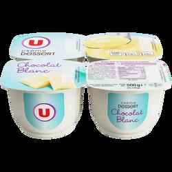 Crème dessert au chocolat blanc U, 4x125g
