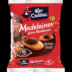 Madeleines moelleuses extra au chocolat KER CADELAC, 400g