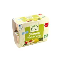 Compotes Pomme Poire Coing - Jadin Bio 4x100g