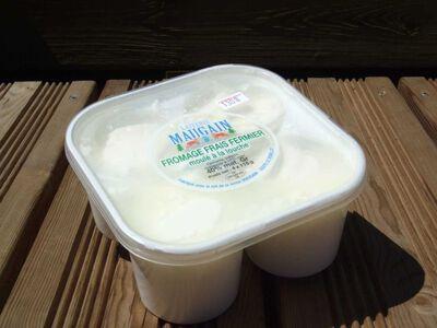 Fromage frais Fermier - Faisselle - 40% Mg X 4 - MAUGAIN