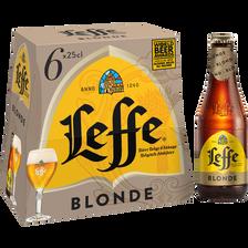 Bière blonde ABBAYE DE LEFFE, 6 bouteilles de 25cl