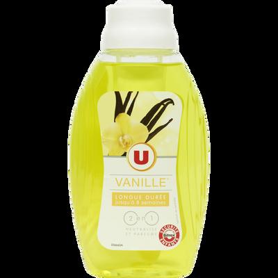 Mèche désodorisante 2 en 1 parfum vanille U, flacon de 375ml