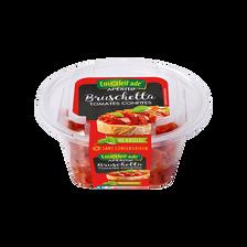Bruschetta tomates confites basilic, barquette 150g