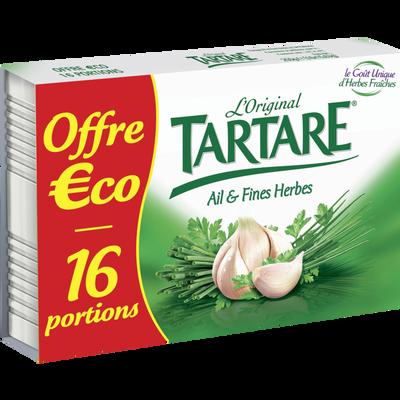 Fromage pasteurisé TARTARE ail&fines Herbes 32,2% x16 250g Offre Economique