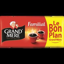 Café moulu familial GRAND MERE, 4x250g