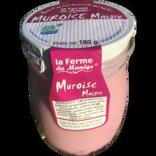 Yaourt muroise maigre brassé au lait du jour LA FERME DU MANEGE, 180g