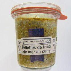 Rillettes de fruits de mer au curry CONSERVERIE DES SAVEURS,100g