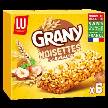 LU Barres De Céréales Aux Noisettes Lu Grany , X6 Soit 125g