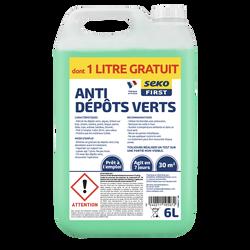 Bidon anti-mousse 6L dont 1 litre offert-détruit mousses vertes,moisissures et bactéries-traite jusqu'à 30m2-prêt à l'emploi-ontentration à3%