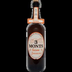 Bière blonde TROIS MONTS saison, 6,5° bouteille 75cl