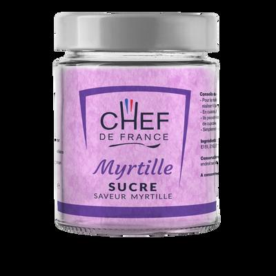 Sucre saveur myrtille CHEF DE FRANCE, pot de 160g