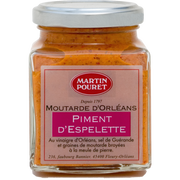 Martin Pouret Moutarde D'orléans Au Piment D'espelette Aop Et Aux Graines Du Val Deloire Martin Pouret, Pot De 200g