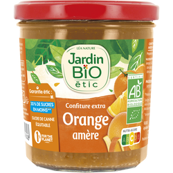 Confiture oranges amère allégée sucre bio JARDIN BIO 320g
