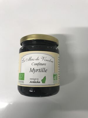 Confiture de myrtille bio 320g Mas de Vinobre