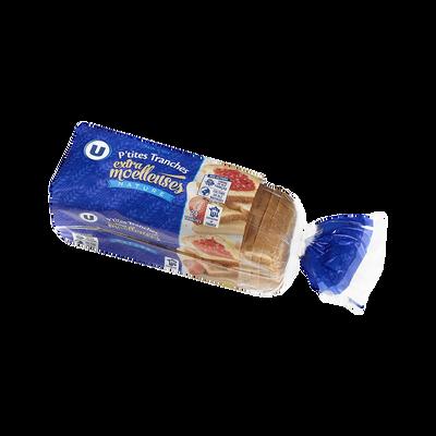 Pain de mie moule ouvert U, paquet de 24 tranches, 500g