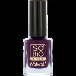 Vernis à ongles, soin et couleur, à l'huile de ricin biologique 10 prune noire - Sans étui