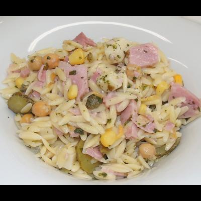 Salade de risoni au jambon et emmental, 250g