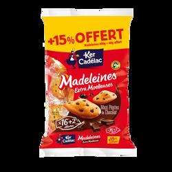 Madeleines extra moelleuse maxi pépites choco x16 KER CADELAC 400g+15%offert soit 460g