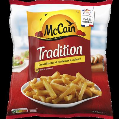 Frites tradition MC CAIN, sachet de 2,6kg