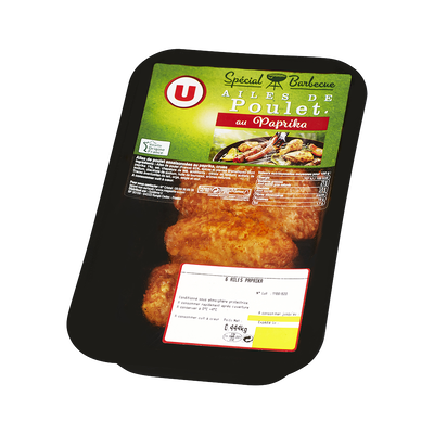 Ailes de poulet au paprika, U, 6 pièces