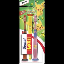 Brosse à dents enfant Pokémon extra souple +7ans SIGNAL, x3