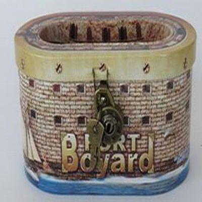 Galettes Charentaises, boite : coffre à cadena (2 clefs fournies) thème fort boyard, 90gr, La Galette Luzacaise