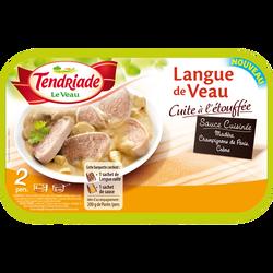 Langue de veau cuite sauce madère, TENDRIADE, France, barquette, 300g