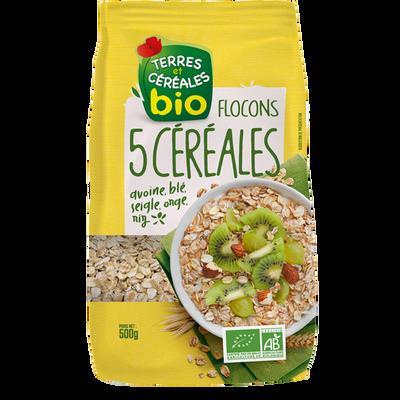 Flocons aux 5 céréales bio TERRE & CEREALES, 500g