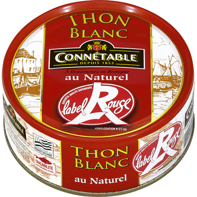 Thon blanc germon au naturel Label Rouge CONNETABLE, 120g