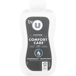 Lait de douche pour homme confort care BY U, flacon de 250ml