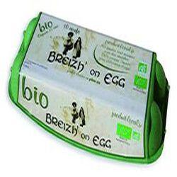 Oeufs biologiques, BREIZH'on EGG, Calibre Moyen, boite de 10