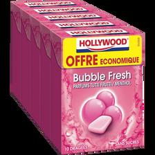 Hollywood Chewing Gum Bubble Fresh Sans Sucre  Dragéesx10 70g Offre Économique
