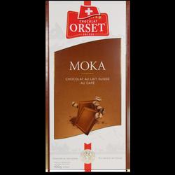 Tablette de chocolat au lait et café ORSET, 100g