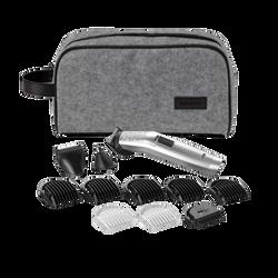 Tondeuse multifonction BABYLISS 7256PE-sans fil-auto.60 min- tond.nez-oreille rotative-tond.finition-guide coupe ajust.-5 guides coupe barbe-2 guides coupe corps-trousse rgmt