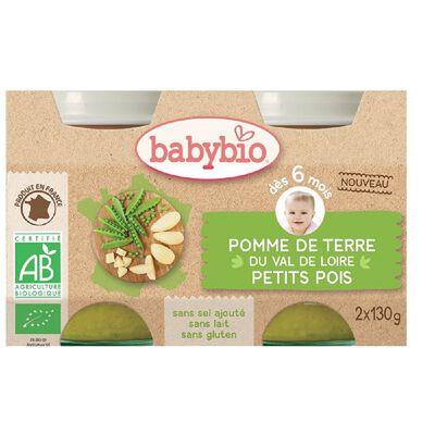 Pot Pomme de terre Petit pois BABYBIO dès 6 mois 2X130g