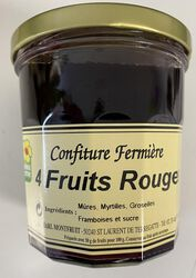 CONFITURE FERMiIERE .4FRUITS ROUGES 360G