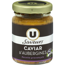 Caviar d'aubergines U SAVEURS, bocal de 90g